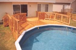 16' x 22' 2-Level Pool Deck - Building Plans Only