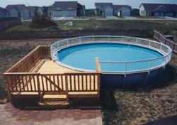 16' x 14' Deck for 24' Pool - Building Plans Only