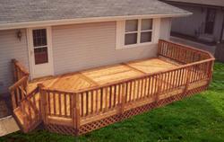 12' x 24' Deck with Lattice Apron - Building Plans