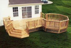 12' x 18' Deck with Octagon and Stairs - Building Plans Only