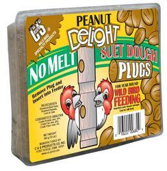 C&S Products  Peanut Delight No Melt Suet Dough Plugs Bird Food