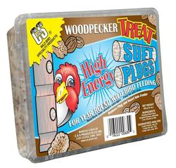 C&S Products Woodpecker Treat High Energy Suet Plugs Bird Food