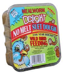 C&S Products  Mealworm Delight No Melt Suet Dough Bird Food