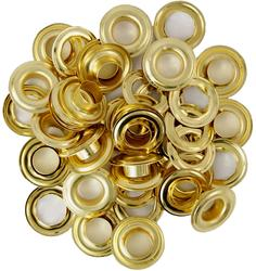 """3/8"""" Brass-Plated Grommets"""