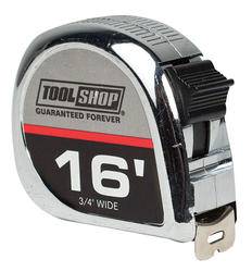 Tool Shop® 16' Chrome Tape Measure