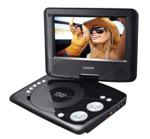 "Sylvania 7 Portable Dvd Player With Swivel Screen Black Portable Tv Remote Portable Cd Player Amazon Portable Charger Ryanair: Sylvania 7"" Portable DVD Player At Menards®"