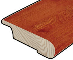 "Hardwood Flooring Stair Nose - Prefinished Rapid Loc Brazilian Cherry 3/8"" x47"""