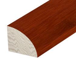 "Hardwood Flooring Quarter Round - Prefinished Brazilian Cherry Bamboo  5/8"" x 78"""