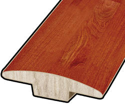 "Hardwood Flooring T-Mould - Prefinished Rapid Loc Handscraped Acacia 7/16"" x 47"""