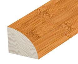 """Hardwood Flooring Quarter Round - Prefinished Honey Bamboo  5/8"""" x 78"""""""