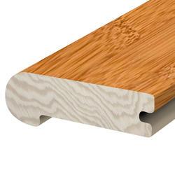 "Hardwood Flooring Stair Nose - Prefinished Honey Bamboo 5/8"" x 78"""