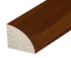 """Hardwood Flooring Quarter Round - Prefinished Tigerwood Bamboo 5/8 x 78"""""""