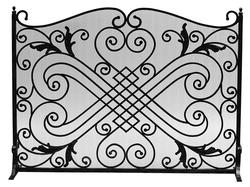 Black Wrought Iron Arched Panel Screen