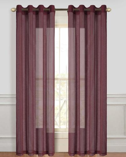 Dainty home sheer voile grommet drapery panels 108 x 84 for 108 window treatments