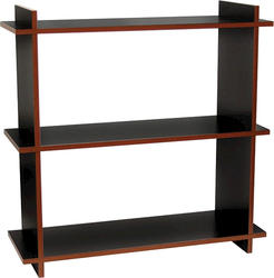 "Dakota™ 32"" Prefinished 2-Tone Black and Cherry 3-Shelf Bookcase"