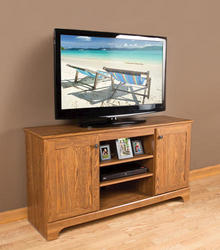 "Dakota™ 54"" Prefinished American Oak Entertainment Console"