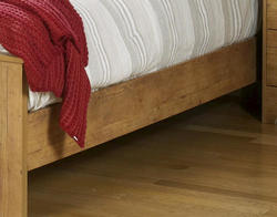 "Dakota™ 84"" Prefinished Knotty Pine Queen Bed Rails"
