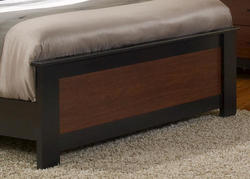"Dakota™ 63"" Prefinished 2-Tone Black and Cherry Queen Footboard"