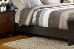 "Dakota™ 84"" Prefinished 2-Tone Black and Cherry Queen Bed Rails"