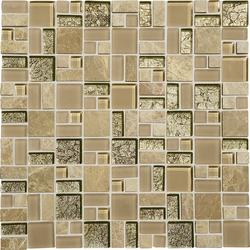 Phase Mosaics Stone and Glass Wall Tile Block Random
