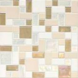 Coastal Keystones Block Random Mosaic Floor or Wall Tile (15 sq.ft/pkg)