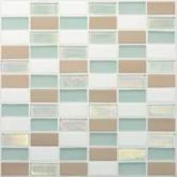 "Coastal Keystones Mosaic Floor or Wall Tile 1"" x 2"" (15 sq.ft/pkg)"