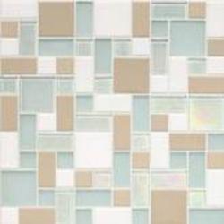 Coastal Keystones Block Random Mosaic Floor or Wall Tile (15 sq.ft/pkg)