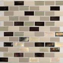 "Coastal Keystones Brick Joint Mosaic Floor or Wall Tile 1"" x 2"" (15 sq.ft/pkg)"