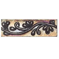 "Cristallo Glass Wall Decorative Accent 3"" x 8"""