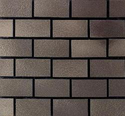 "Urban Metals Brick-Joint Pattern Wall Mosaic 12"" x 12"""