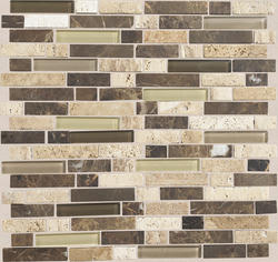 "Stone Radiance Stone and Glass Mosaic Wall Tile 5/8"" Random (10 sq.ft/pkg)"