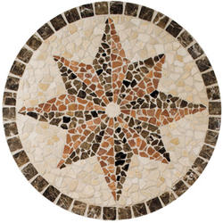 "Medallions Universal Floor or Wall Tumbled Medallion 32"" x 32"""