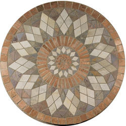 "Medallions Universal Floor or Wall Tumbled Medallion 36"" x 36"""
