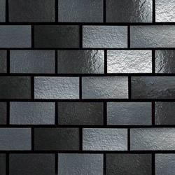 "Urban Metals Brick-Joint Pattern Wall Mosaic 12"" x 12"""