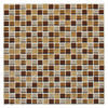 "Delfino Terra Blend Glass Mosaic Wall Tile 12"" x 12"""