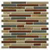 "Delfino Longhorn Glass Mosaic Wall Tile 12"" x 12"""