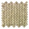 """Delfino Stone Emperador Basketweave Mosaic Wall Tile 12"""" x 12"""""""