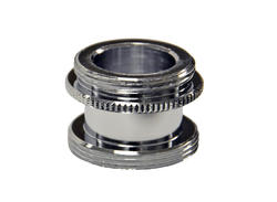 """Danco 15/16""""-27M x 55/64""""-27M Chrome Male Aerator Adapter for Speakman Faucets"""