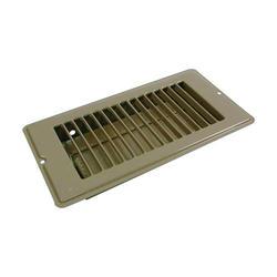 """Danco 4"""" x 8"""", 1-5/16"""" Drop Brown Floor Register"""