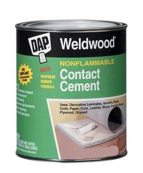 DAP® Weldwood® Nonflammable Contact Cement - 1 qt