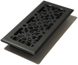 "4"" x 10"" Black Steel Gothic Register"