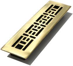 "2"" x 12"" Satin Finish Oriental Solid Brass Register"