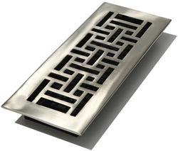 "4"" x 12"" Nickel Finish Oriental Solid Brass Register"