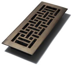 "4"" x 12"" Bronze Finish Oriental Solid Brass Register"