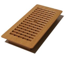 "4"" x 10"" Oak/Caramel Plastic Register"
