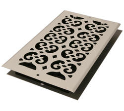 """6"""" x 12"""" White Scroll-Painted Wall Register"""