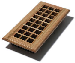 "4"" x 10"" Lattice Natural Oak Register"