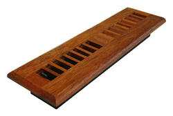 """2"""" x 12"""" Wood Louvered Natural Cherry Register"""