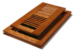 "4"" x 10"" Oak (Medium) Flushmount Register"