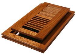 "4"" x 12"" Oak (Natural) Flushmount Register"